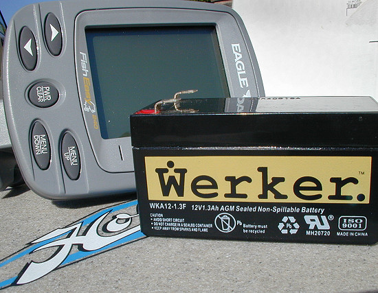 Install a fishfinder for Fish finder battery