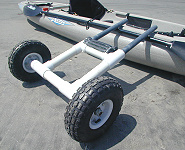 Building kayak carts for Harbor freight fishing cart